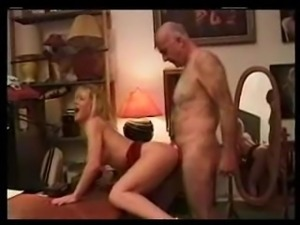 hairy older man enjoying hotty