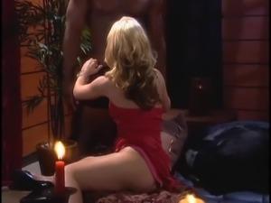 Blonde pornstar juicy pussy licked lovely in interracial porn