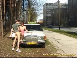 real amateur taxi fuck