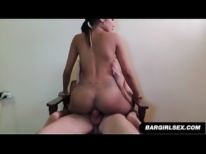 Filipina Slut Takes Hard Dick and Creampie