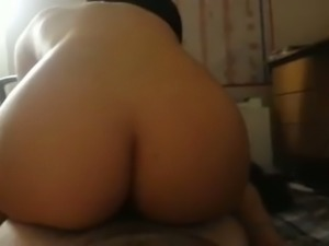 Ardent big bottomed brunette cowgirl of my buddy is fond of topping him