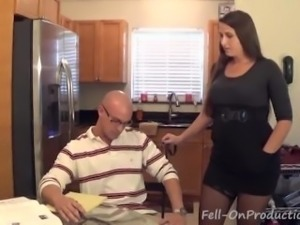 Fucking mom in the kitchen