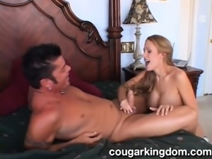 Buxom housewife with a splendid ass enjoys wild sex with a hung stud