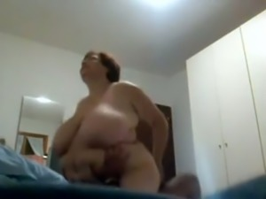 Insatiable BBW granny riding my dick in a cowgirl position