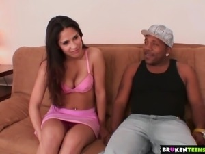 BrokenTeens - Jade s delighted to take care of Mac s huge dick