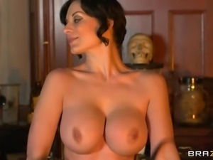 Incredibly Hot Brunette Abbie Cat Rides One Hard Cock