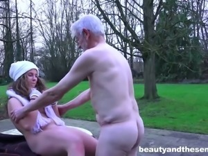 Young sweetie Bunny Babe is fucked hard by old dude