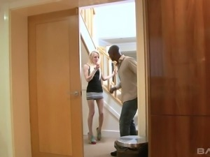 Whore wife April Paisley is cheating her husband with BBC neighbor