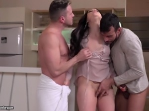 Plump Taissia craves to feel a couple of erected love rods