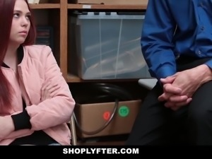 Shoplyfter - Teen Strip Searched & Fucked by Creepy Man