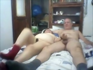 Lovely mature couple and their mutual steamy spooning taped on cam
