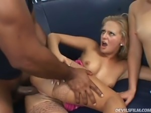 Black fuck hungry man bangs blond European slut Lili and her wild kooky by...