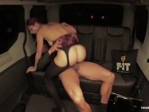 Cute redhead wants to be ravished by a handsome stallion in a backseat