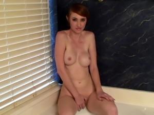 Hot wife masturbating in the bathtub - Kendra James
