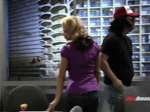 30 Rock parody with some pretty babes with big tits getting rocked by cock