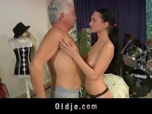Teenie girl ass fucking cock sucking old teacher