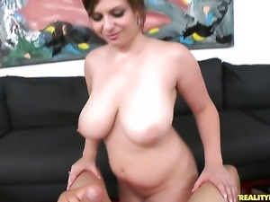 Redhead Jessica Roberts with massive knockers and clean