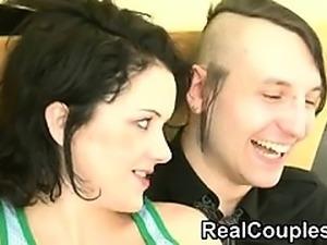 Real couple talking then fucking Hyun from 1fuckdatecom