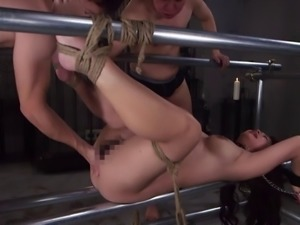 Redhead Japanese slave has fun during BDSM sessions