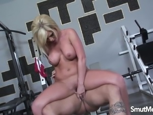 Very Sexy blonde fucks and cum in mouth