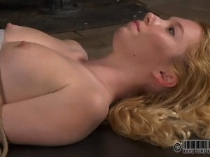 Sweet blonde called Nicki Blue moans during the dungeon adventure