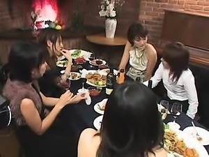 Charming Asian babes seize the chance to satisfy their lesb