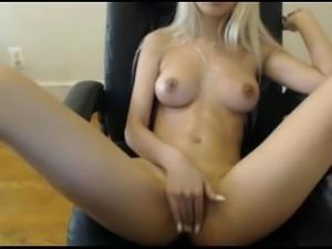 Blonde Asian Teen Fingering Herself