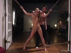 Rough sex is the only thing that gets her off. She bends over to submit to...