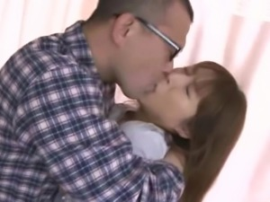 Brunette from Japan moans as the dude explores her sweet little hole