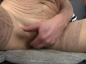 Irenka is old, but her desires for cock are still strong. Even one cock is...