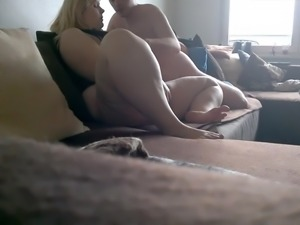 Spying my BBW cougar mom satisfied by her lover