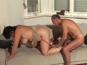 Hot brunette mature amateur got fucked by her husband