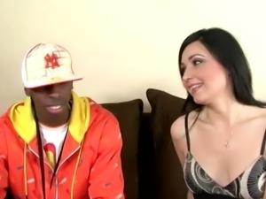 Velvet banged by a horny black dude on a sofa hard