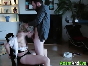 Dominated babe spunked