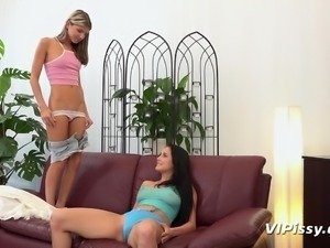 Step in into a loving world of Gina and Nicol. These two girls have a piss...