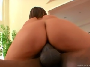 Wicked hot white girl craves to suck a big black dick and ride it on top