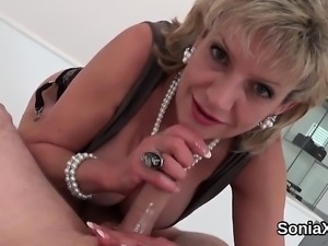 Unfaithful english mature gill ellis displays her massive br