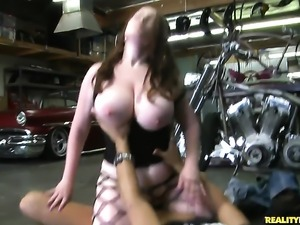 Piercings Desiree with giant tits and hairless pussy loves to suck and cant...