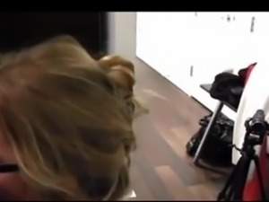 Sexy Blonde Asian Model First Casting Blowjob