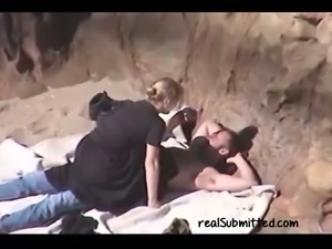 Blonde chunky lady blows dick and rides on her partner