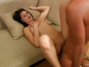 Karin feels so good receiving a fat dick in her shaved twat