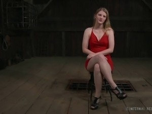 Small tits slave posing lovely before getting tortured in BDSM