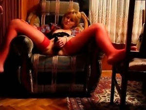 Housewife Svetla enjoys cucucmber and cock