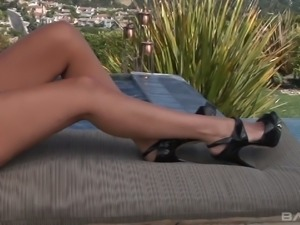 Danny Mountain fucks super hot milf Amy Fisher by the poolside