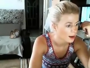 Very blonde gets used before the cam