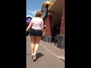 Chubby British mini skirt slag