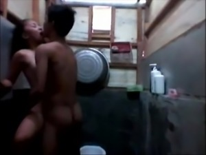 Housemaid and driver fucking in the laundry