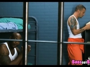 Interracial Prison Threesome