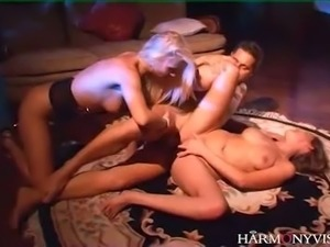 Wanton light haired GF Poppy Morgan takes active part in hard core FFM session