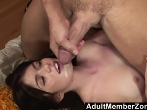 AdultMemberZone - Cute cheerleader drains the coach's balls